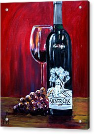 Silver Oak Of Napa Valley And Grape Acrylic Print