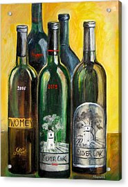 Acrylic Print featuring the painting Silver Oak by Sheri  Chakamian