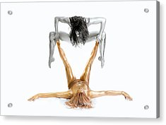 Silver On Gold - Gymnast Series Acrylic Print by Howard Ashton-jones