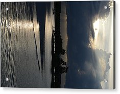 Silver Reflections Acrylic Print by Adam Panek