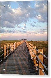 Silver Sands Beach At Sunset Acrylic Print