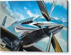 Silver Sky Plough Acrylic Print by Riek  Jonker