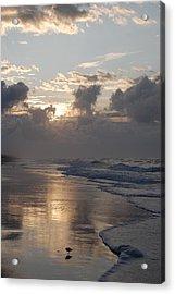 Silver Sunrise Acrylic Print by Mim White