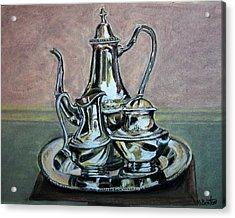 Silver Tea Set Acrylic Print