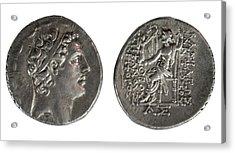 Silver Tetradrachm Coins Acrylic Print by Photostock-israel