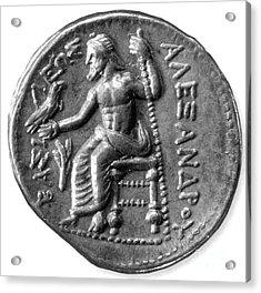 Silver Tetradrachm Of Alexander Acrylic Print
