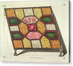 Silver Tray With Flowers Acrylic Print by British Library