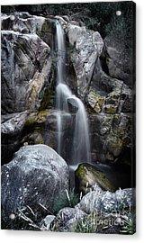 Silver Waterfall Acrylic Print by Carlos Caetano