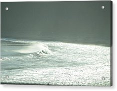 Silver Wave Acrylic Print by Deprise Brescia