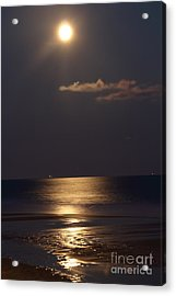 Silvered Sea Acrylic Print by Frances Marian Lewis