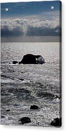 Silvery Ocean Sheen Acrylic Print by Wernher Krutein
