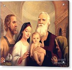Simeon In The Temple Acrylic Print