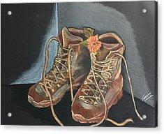 Simon's Boots Acrylic Print