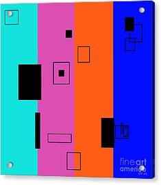 Simple Color 2 Acrylic Print by Eloise Schneider