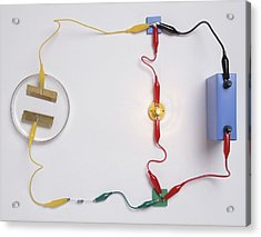 Simple Electronic Circuit Detects Water Acrylic Print by Dorling Kindersley/uig