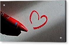 Simple Love Acrylic Print by Bill Owen
