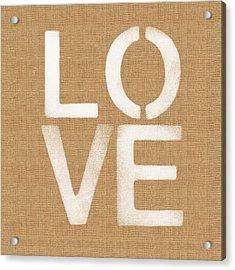 Simple Love Acrylic Print by Linda Woods