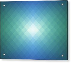 Simple Pixels Background Acrylic Print by Simon2579