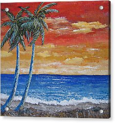 Acrylic Print featuring the painting Simple Pleasure by Suzanne Theis