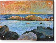 Simple Rock Landscape Acrylic Print