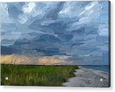 Simple Seaside Landscape Acrylic Print by Yury Malkov