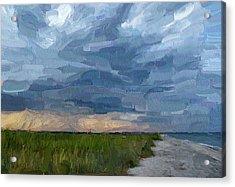 Simple Seaside Landscape Acrylic Print by Yury Malkov