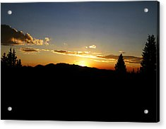 Simple Sunset Acrylic Print by Jeremy Rhoades