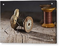 Simple Things - Rolling The Thread Acrylic Print by Nailia Schwarz