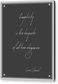 Simplicity And Elegance Acrylic Print
