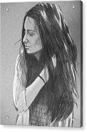 Acrylic Print featuring the drawing Simplicity Grey by Justin Moore