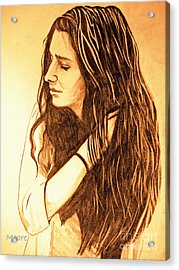 Acrylic Print featuring the drawing Simplicty by Justin Moore