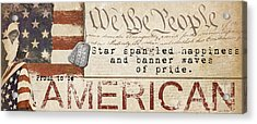 Simplified America Acrylic Print by Grace Pullen