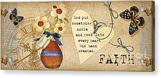 Simplified Faith Acrylic Print by Grace Pullen