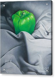 Acrylic Print featuring the painting Simply Green by Pamela Clements