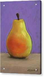 Simply Pear Acrylic Print by Marna Edwards Flavell