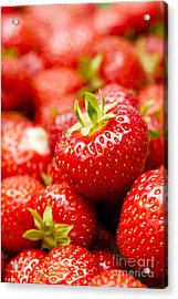 Simply Strawberries Acrylic Print by Anne Gilbert