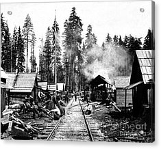 Acrylic Print featuring the photograph Simpson Timber Company Logging Camp by Joe Jeffers