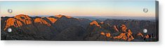 Acrylic Print featuring the pyrography Sinai View From St. Catherine Montain On Sunrise by Julis Simo