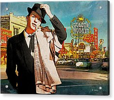 Sinatra In Vegas 1955 Acrylic Print