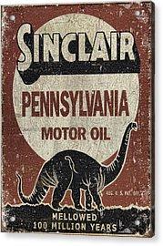 Sinclair Motor Oil Can Acrylic Print