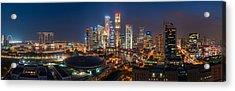 Singapore - Skyline Panorama Acrylic Print by Jean Claude Castor
