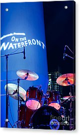 Singapore Drum Set 03 Acrylic Print by Rick Piper Photography