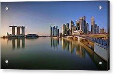 Singapore Skyline Panoramic View Acrylic Print by © Copyright Kengoh8888