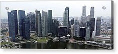 Acrylic Print featuring the photograph Singapore Skyline by Shoal Hollingsworth