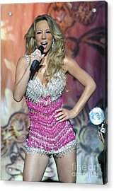 Singer Mariah Carey Acrylic Print by Concert Photos