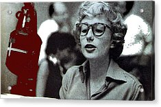 Singer Pianist Blossom Dearie  No Known Date Acrylic Print