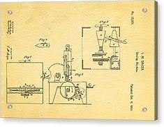 Singer Sewing Machine Patent Art 1855 Acrylic Print