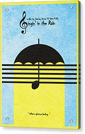 Singin' In The Rain Acrylic Print by Ayse Deniz