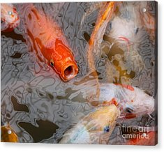 Singing Carp Acrylic Print by Theresa Willingham