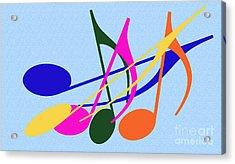 Singing Happily Acrylic Print by Tina M Wenger